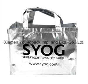 Promotional Custom Printed Metallic Non-Woven Reusable Tote Bag pictures & photos