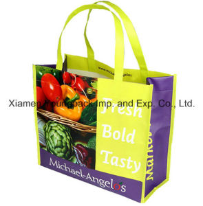 Wholesale Bulk Cheap Reusable Carry Bag Eco Friendly Supermarket Grocery Shopper Bag Promotional Custom Printed Non-Woven Fabric Foldable Tote Shopping Bags pictures & photos