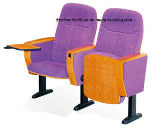 Steel Frame Cinema Chair with Wooden Writing Table pictures & photos