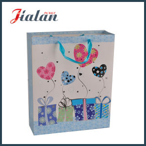 Customize Ribbon Rope & Hot Stamping Birthday Shopping Gift Paper Bag pictures & photos