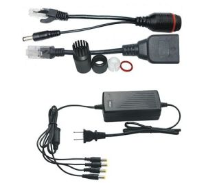 120meter Passive Poe Splitter and Injector Cable Set