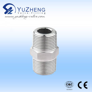 Stainless Steel Hex Nipple with Thread End pictures & photos