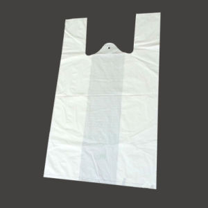 100% Fully Bioplastic/Biodegradable/Compostable Singlet Shopping/Shopper Bag