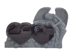 Natural Granite Double Angel Memorials Headstone pictures & photos