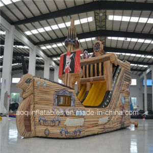 Commercial Used PVC Inflatable Pirate Boat with Bounce Slide (AQ1506) pictures & photos