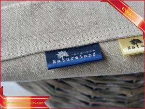OEM Printed Satin Label Garment Printed Flag Label pictures & photos