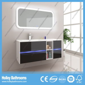 Hot LED Light Touch Switch High-Gloss Paint Hotel Bathroom Cabinet (B808D) pictures & photos