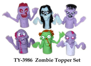 Funny Zombie Topper Set Toy pictures & photos