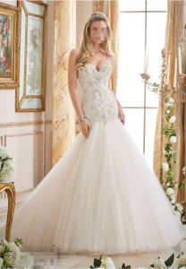 2016 Beaded A-Line Bridal Wedding Dresses 2874 pictures & photos