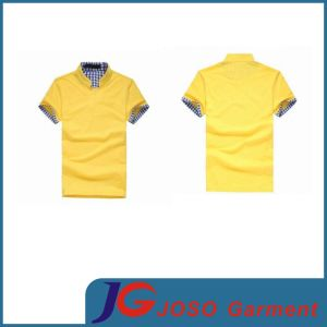 Shop Online Yellow Polo Neck Casual Shirts Tee Shirt (JS9012m) pictures & photos
