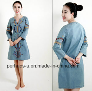 New Arrive Fashion Retro Women Denim Dress pictures & photos