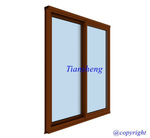 Two Panels Aluminum Sliding Window with Toughed Glass for Australia Market pictures & photos