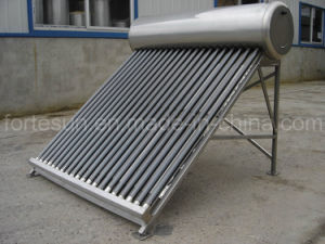 Stainless Steel Low Pressure Domestic Solar Thermal Water Heater pictures & photos