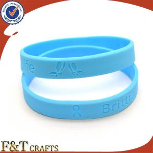 Promotional Silicon Bracelet Without Logo pictures & photos