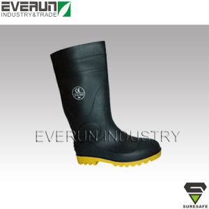 CE EN ISO 20345 Safety Boots Gumboot PVC Boots with Steel toe cap & steel midsole pictures & photos