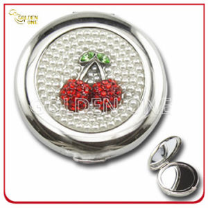 Cherry Crystal Stone Decoration Chrome Plated Metal Gift Mirror pictures & photos