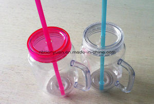 16oz Plastic Cup with Straw and Lid
