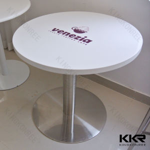 600mm Custom Artificial Stone Round Table with Logo pictures & photos