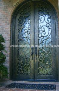 Exterior Round Top Wrought Iron Front Door (UID-D004) pictures & photos