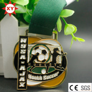 Factory Price Filled in Color Souvenir Youth Soccer Medal pictures & photos
