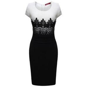 Fashion Design Ol Style Lace Slim Ladies MIDI Bodycon Dress pictures & photos