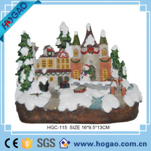 OEM Resin Figurine Christmas Castle in The Snow pictures & photos