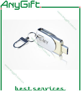 Metal USB Stick with Laser Engraved Logo 06 pictures & photos
