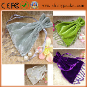 Beaded Velvet Bags for Jewelry Wedding Party Gift/Drawstring Pouches