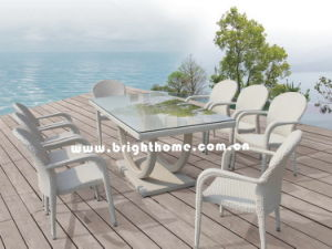 High Quality Rattan Wicker Dining Set Outdoor Furniture Bw-459d pictures & photos