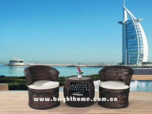 PE Rattan Wicker Furniture/Flower Weaving Leisure Set/Balcony Chair (BP-262) pictures & photos