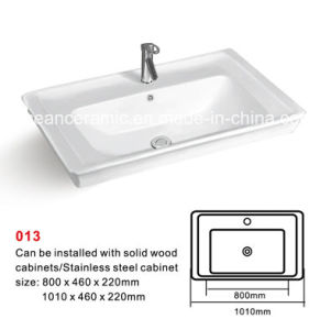 Cabinet Basin (NO. 013) , Ceramic Basin with Backsplash pictures & photos