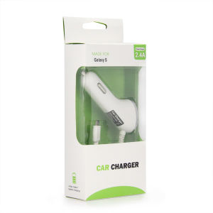 USB Car Charger 5V 2.4A with Cable for iPhone Samsung pictures & photos
