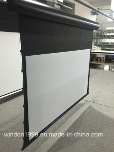 Ceiling /Wall Mount Motorized Tab Tensioned Projection Screen/Electric Projector Screen pictures & photos