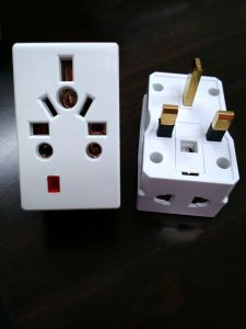 13A AC Power Plug Adapter with Fuse with Neon pictures & photos