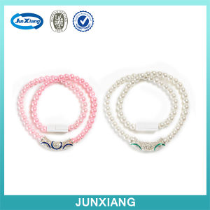 New Arrived Fashion Pearl Necklace USB Cable for iPhone pictures & photos