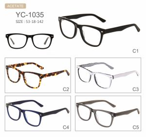 Stock Fashion Hot Selling New Design Acetate Optical Frames pictures & photos