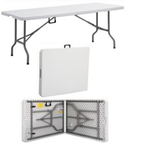 High Quality Plastic Folding Table, Garden Furniture, Trestle Table pictures & photos