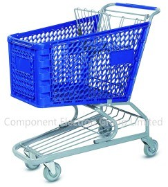 Green Supermarket Plastic Shopping Trolley pictures & photos