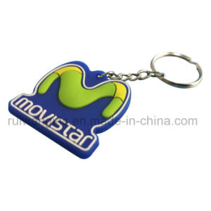 3D Movistar Custom Rubber Keychain for Souvenir pictures & photos