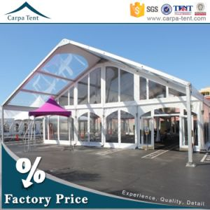 White 30*40m Fabric Wedding Canopy Party Tent with Drapery pictures & photos
