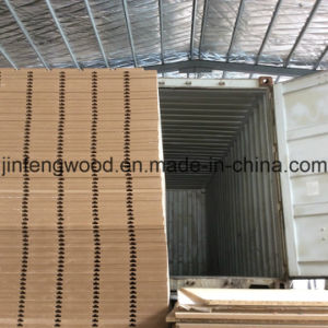 Melamine MDF with Slot Board Loose Packing for 20gp pictures & photos