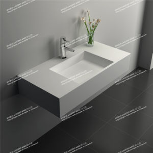 Modern Design Artificial Stone Solid Surface Bathroom Wash Basin/Sink (JZ1027)