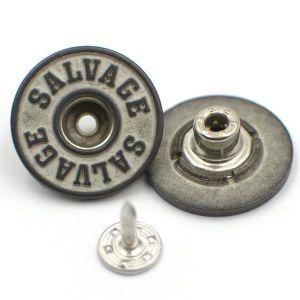 Custom Simple Logo Metal Jeans Button Denim Button pictures & photos