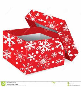 Handmade Gift Box with Snow Printinig for Chirstmas pictures & photos