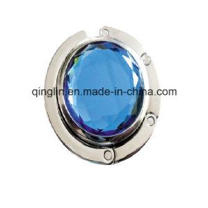 Fashion Gift Shiny Gemstone Decoration Folding Metal Bag Hanger (G-039) pictures & photos