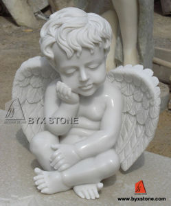 White Marble Stone Little Angel Sculpture for Decoration pictures & photos