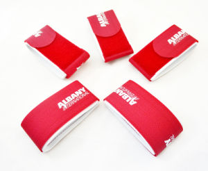 Nylon Material Hook and Loop Closure Customized Logo Ski Straps pictures & photos