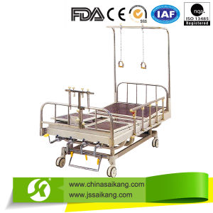 Stainless Steel Orthopedics Traction Bed with X-ray Translucent (CE/FDA) pictures & photos
