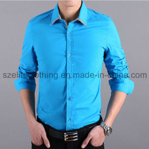 High Quality Latest Design Blouse Men Formal Shirts (ELTDSJ-153) pictures & photos