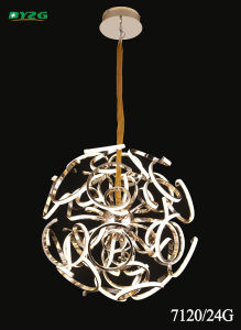 Hot Sale Modern Hotel Decorative Aluminium Alloy Chandelier Byzg 7120-24G